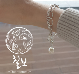 [칠보공방] 두줄-담수진주 팔찌