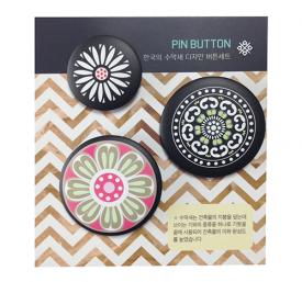 [디자인스쿱] 한국의 수막새 디자인 버튼세트