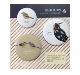 [디자인스쿱] 한국의 텃새 디자인 버튼세트