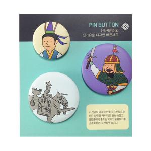 [디자인스쿱] 신라캐릭터와 신라유물 디자인 버튼세트